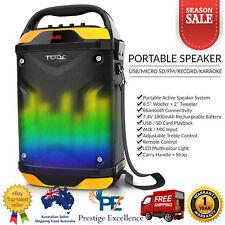 TODO Portable Bluetooth Super Bass PA Speaker Mic Input LED Lights Audio Player
