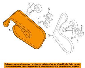 AUDI OEM 11-15 Q7-Serpentine Drive Fan Belt 06E903137AE