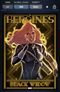 Topps Marvel Collect DIGITAL HEROINES GOLD MOTION EPIC BLACK WIDOW 268CC