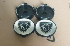 4x New Peugeot Logo Alloy Wheel Hub Centre Caps Set of 4 Center Caps 60mm