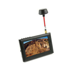 "US F408 FPV 32CH 5.8Ghz 4.3"" LCD Wireless Receiver Monitor Black+ Sunshade"
