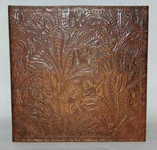 Dark Choocolate Western Floral Embossed Leather 2 3 Ring Binder