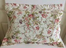 RALPH LAUREN Pillowcase Sham Standard Floral Shabby Chic Cottage Country Cotton