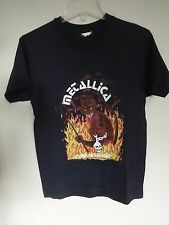 SUPER RARE DESIGN Vtg 1983 Metallica - Jump In The Fire 50/50 Screen Stars Small