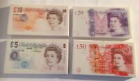 3 x Novelty Money Eraser Rubbers - Cash Notes Stationery Pen Pencil School Funny