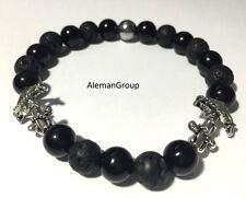 Anchor Bracelets Onyx Beads Gemstone Round Yoga Lava Stone Hematite