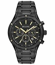 Bulova Men's Black Ion Stainless Steel Chronograph Watch - #98B287