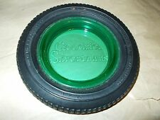 BF Goodrich Sivertown Ashtray/Trinket Dish/Rubber Tire, Depression/Vaseline