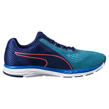 Scarpe sportive da uomo blu in gomma di velocità