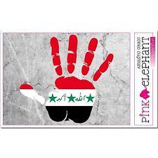 Irak - main paume Doigt Imprimer étiquette Drapeau DESSIN PERSIA