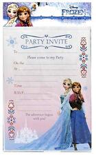Disney FROZEN INVITATIONS 20 Sheets includes Envelopes Girls Invites Birthday