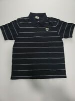 Lacoste Sport Mens size 6 XL (US Large fit) Black Performance Polo Shirt Striped