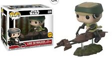 Star Wars Luke on Speeder Bike Deluxe Pop! Vinyl Bobble Head #229 (Chase Variant