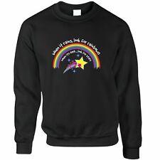 Inspirational Jumper When It Rains, Look For Rainbows Slogan Positive Sweatshirt