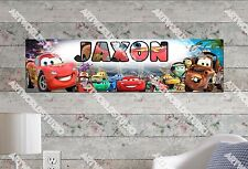 Personalized/Customized Disney Car Name Poster Wall Art Decoration Banner