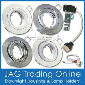 DOWNLIGHT FITTING HOUSING GIMBAL / FIXED FIXTURE 12V MR16 / 240V GU10 LAMPHOLDER