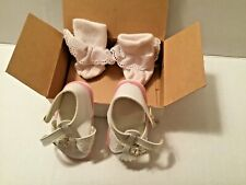 New Doll White & Pink Sandals & Sock Set Mib for a 18-21� Doll.