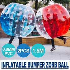 2Pcs 1.5M Body Inflatable Bubble Bumper Zorb Ball Soccer PVC Human Lawn PRO