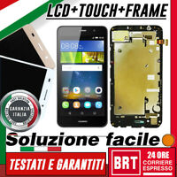 DISPLAY LCD+TOUCH SCREEN+FRAME per HUAWEI ASCEND Y6 SCL-L01 L21 SCHERMO VETRO