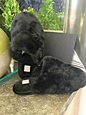 Chinese Laundry CL Faux Fur Slip On Clog Slip On Slippers Black 9/10 NWOT