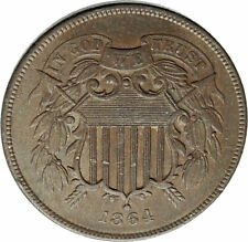 1864 UNITED STATES 2 Cents 1st IN GOD WE TRUST on US Coin after CIVIL WAR i77051