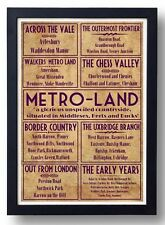 Metro-Land, London Retro Art Print (Harrow Pinner Rickmansworth Chesham Watford)
