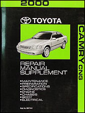 2000 Toyota Camry CNG Repair Manual Supp Compressed Natural Gas Shop Service