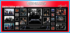 METALLICA MUSIC MEMORABILIA SIGNED FRAMED LIMITED EDITION TO 499 with C.O.A