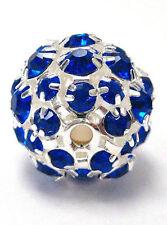 Navy Blue Rhinestone Bead  15mm dia  hole size 2mm New  DIY Jewelry Craft Making