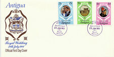 ANTIGUA 23 JUNE 1981 ROYAL WEDDING ILLUSTRATED FIRST DAY COVER