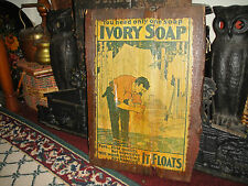 Ivory Soap Advertising Lid For Wood Crate Box-It Floats-Soap Crate Wood
