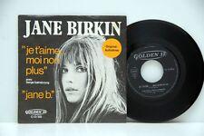 """Jane Birkin        Je táime          Golden 12         """"7        NM  # D"""