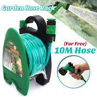 Portable Garden Water Pipe Hose Reel Storage Organizer Holder W/ Hose+Sprayer !