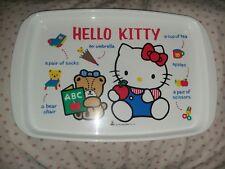 vintage Hello Kitty plastic tray 1988