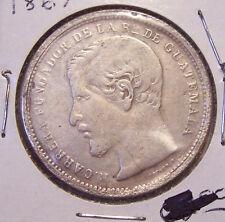 1867 GUATEMALA 1 PESO SILVER DOLLAR COIN KM 186.1