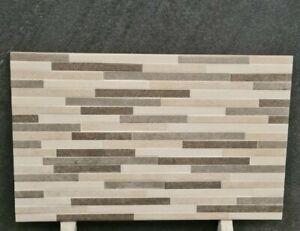 Feature Wall Tiles Cream 25x40 cm Ceramic Split Face Style