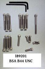 Motorschraubensatz V2A unit single BSA B44 B25 UNC TR25W allen screw set