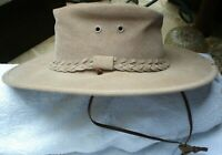 ORIGINAL AUTHENTIC OZHATZ AUSTRALIAN HAT XS MADE IN AUSTRALIA WITH CHIN STRAP