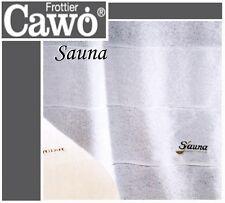 257 CAWö Piazza Sauna Toalla de sofá 76 GRIS PLATA / blanco 80 x 200cm