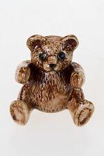 Teddy Bear Ceramic Miniature Collectibles Wild Animal Figurine Handmade Souvenir