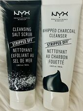 NYX Cleansing Salt Scrub and Whipped Charcoal Cleanser 3.38oz  Deep/Profond-M4