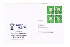 Berlin Brief II GW ab Berlin/Charlottenburg 26.2.1959 MiNr. 183 im Viererblock