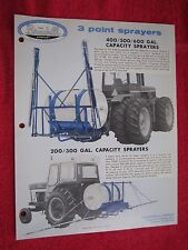 1977 BROYHILL 3 POINT HITCH SPRAYERS BROCHURE