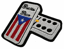 PUERTO RICO DOUBLE SIX DOMINOES MC EMBROIDERED PATCH