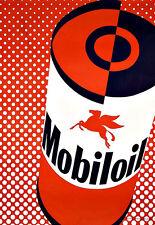 Art ad Mobil Oil Deco Auto Coche cartel impresión