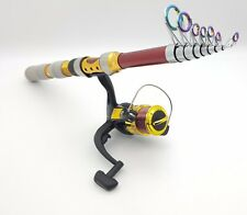 270cm TRAVEL FISHING ROD & REEL SEA FISHING ROD OR FRESHWATER TELESCOPIC F 5.2:1
