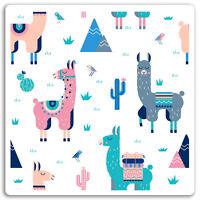2 x 10cm Llama Pattern Vinyl Stickers - Alpaca Mexico Fun Sticker Laptop #17478