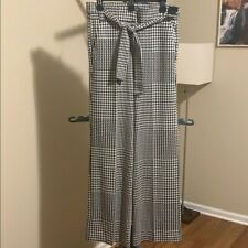 NWT New York & Company Women's Wide Leg Pants - Size M - Houndstooth