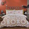 Morocco kaleidoscope Star Printed Reversible Duvet Cover Quilt Linen Bedding Set