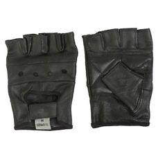 Guanti neri per motociclista guanti senza dita dita